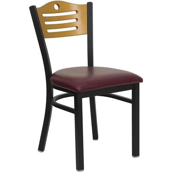 Flash Furniture Slat Back Metal Restaurant Chair