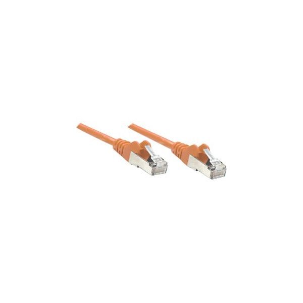 Intellinet Patch Cable, Cat6, UTP, 1.5', Orange