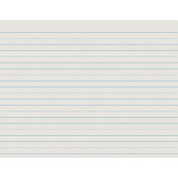 Pacon Ruled Newsprint Practice Paper w/Skip Space, 2nd Grade, White, 500 Sheets/Ream