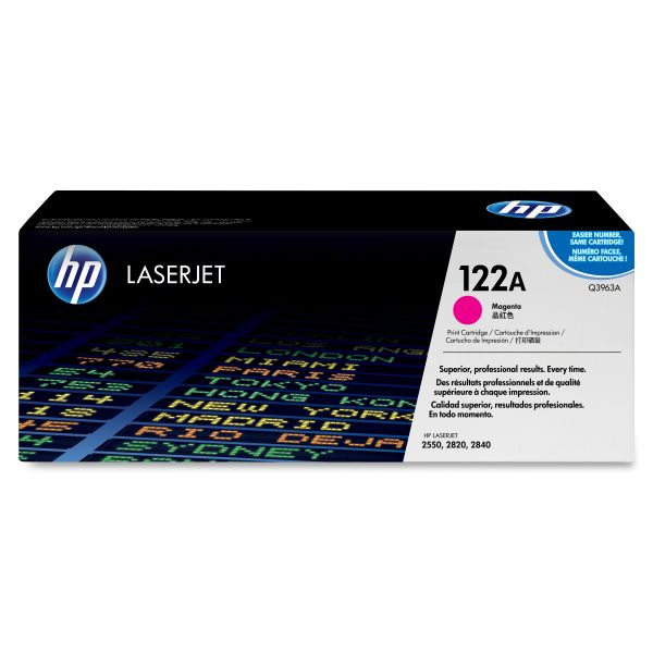 HP 122A Magenta Toner Cartridge (Q3963A)