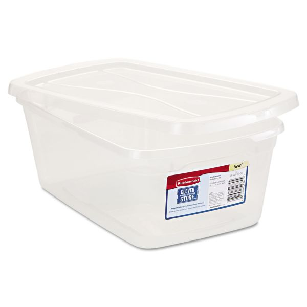 Rubbermaid Clever Store Snap-Lid Container