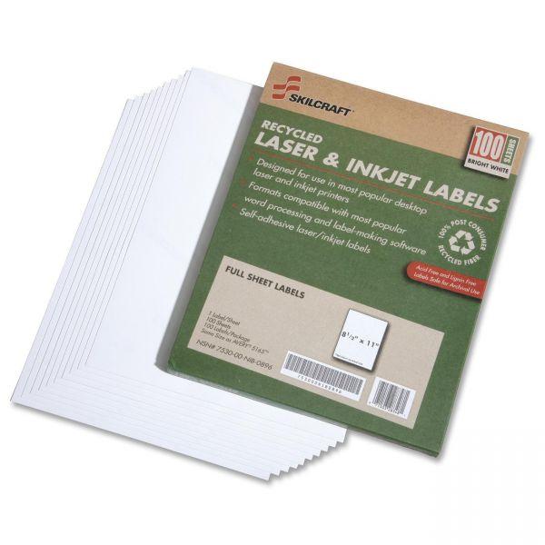 SKILCRAFT 7530-01-578-9298 Full Sheet File Folder Label