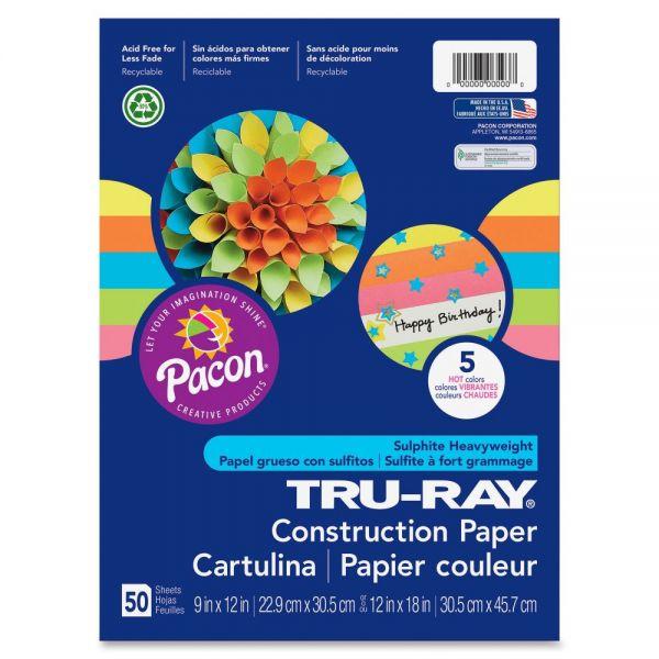 Tru-Ray Hot Color Sulphite Construction Paper
