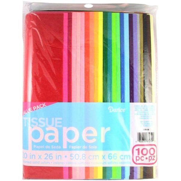 """Tissue Paper Value Pack 20""""X26"""" 100/Pkg"""