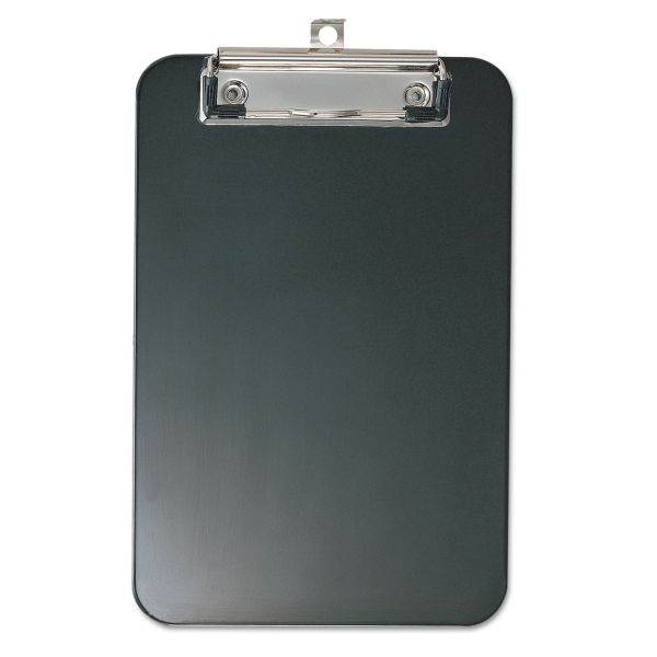 "Officemate 6"" x 9"" Black Plastic Clipboard"