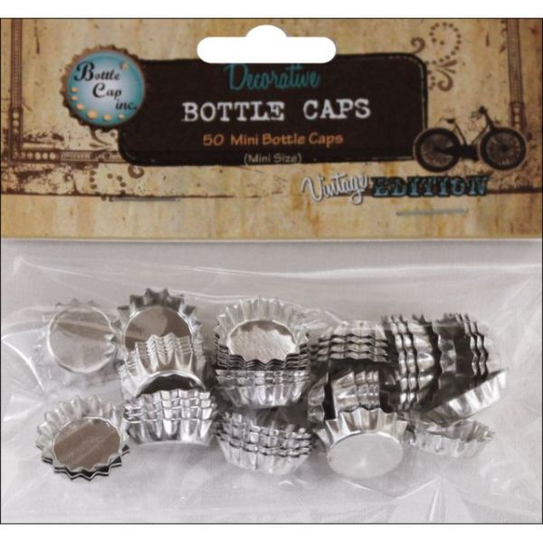 "Vintage Collection Mini Bottle Caps .5"" 50/Pkg"