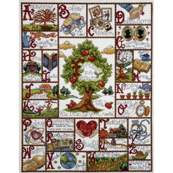 Families ABC Counted Cross Stitch Kit