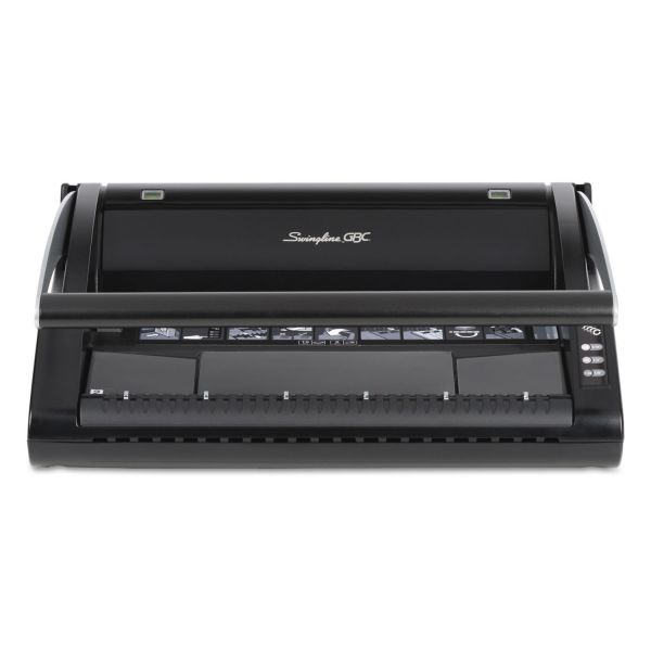 Swingline GBC ProClick P110 Manual Binding Machine, Binds 110, Punches 15, Black
