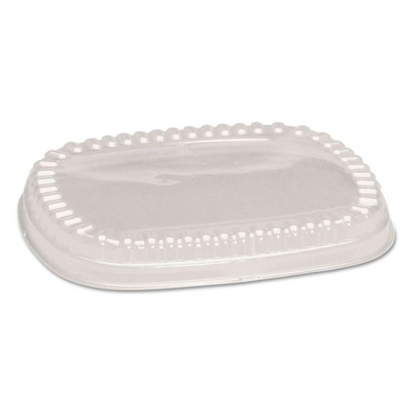 Genpak Plastic Dome Lid, Clear, 9 x 7 x 1, 125/Bag, 2 Bag/Carton
