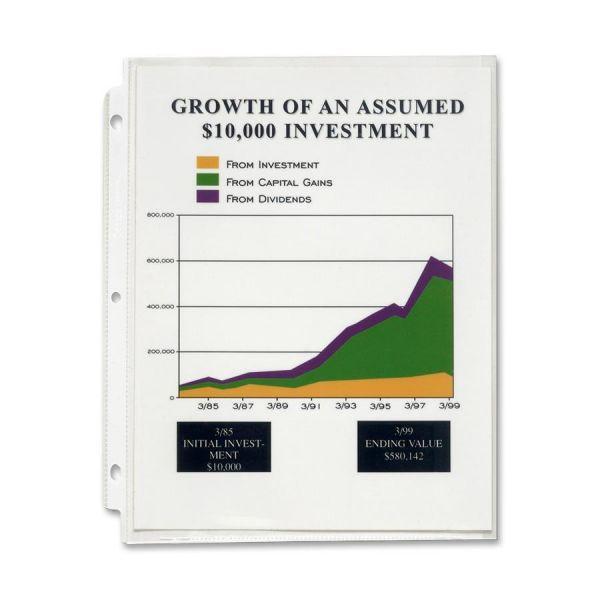 Sparco High-Capacity Top Loading Sheet Protectors