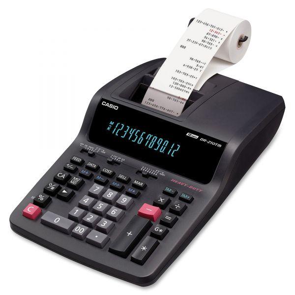 Casio DR-210TM Red & Black Printing Calculator