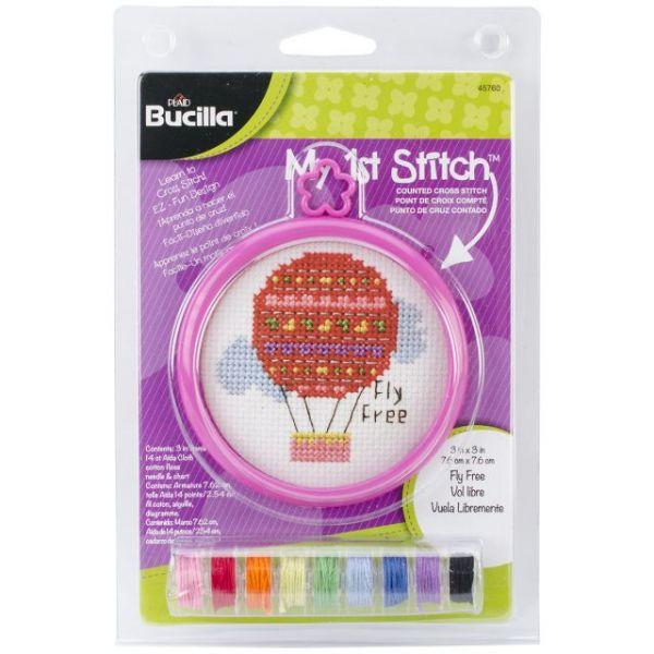 Bucilla My 1st Stitch Fly Free Mini Counted Cross Stitch Kit