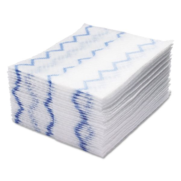 Rubbermaid Commercial HYGEN HYGEN Disposable Microfiber Cleaning Cloths, White/Blue, 10 x 8, 640/Pack