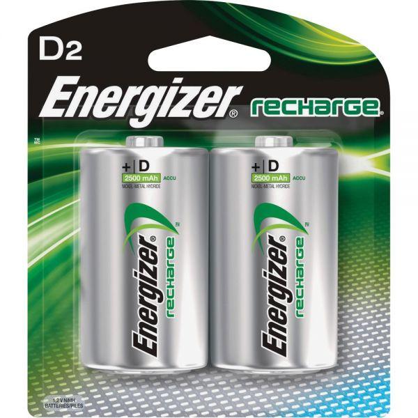 Energizer NiMH e2 Rechargeable D Batteries