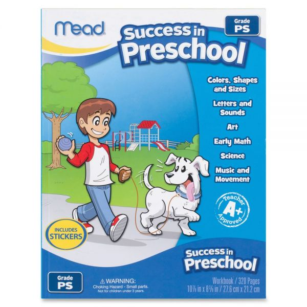 Mead Success In Preschool Workbook Learning Printed Book