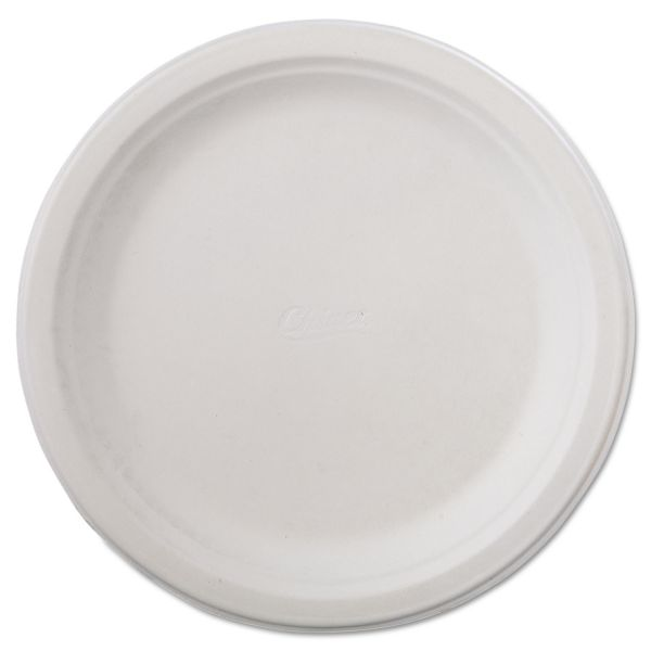 "Chinet Classic Paper Dinnerware, Plate, 9 3/4"" dia, White, 125/Pack, 4 Packs/Carton"