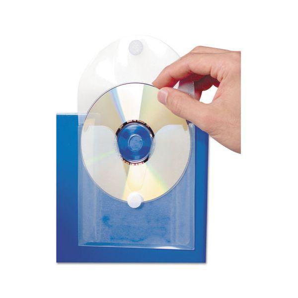 Baumgartens CD Pocket, Clear/White, 5/Pack