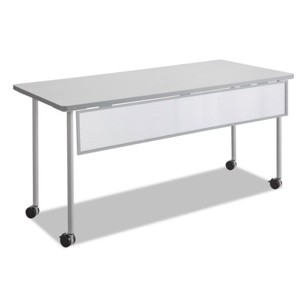 Safco Impromptu Modesty Panel, Polycarbonate/Steel, 66w x 1d x 9h, Silver