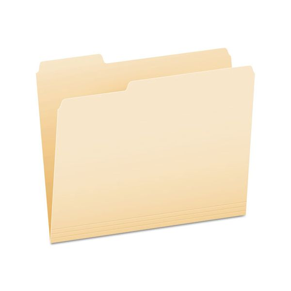 Pendaflex File Folders, 1/3 Cut Top Tab, Letter, Manila, 100/Box
