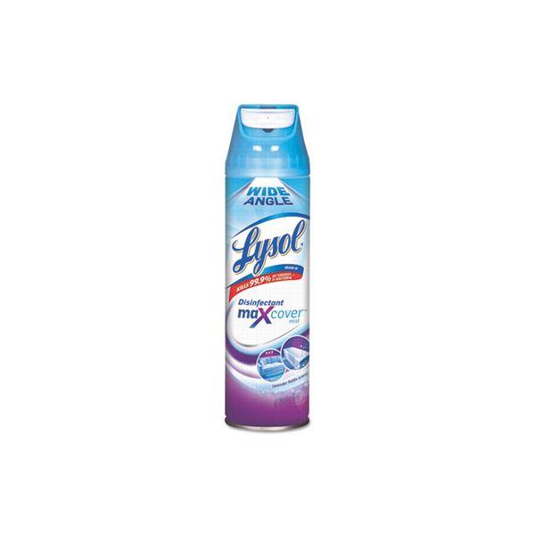 LYSOL Brand Max Cover Disinfectant Mist, Lavender Field, 15 oz Aerosol, 12/Carton