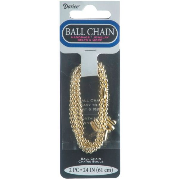 "Ball Chain 2.4mmX24"" 2/Pkg"