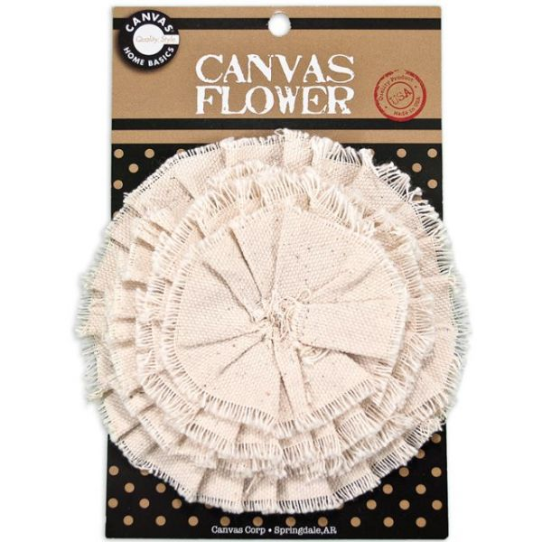 Canvas Flower 4.5""