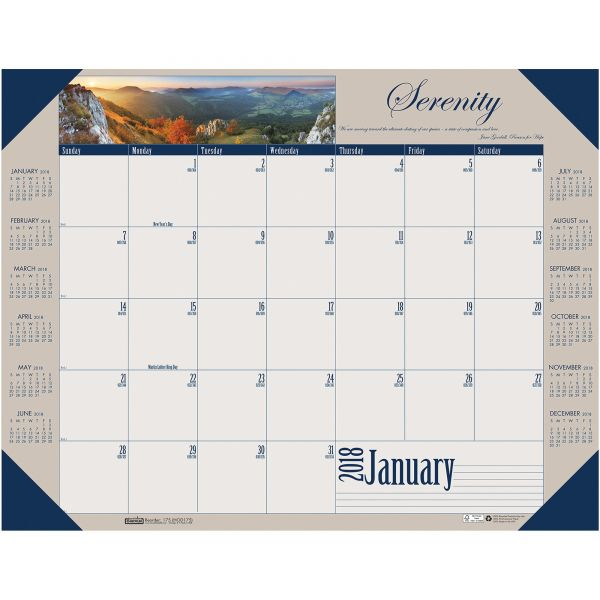 House of Doolittle Motivational Photographic Monthly Desk Pad Calendar