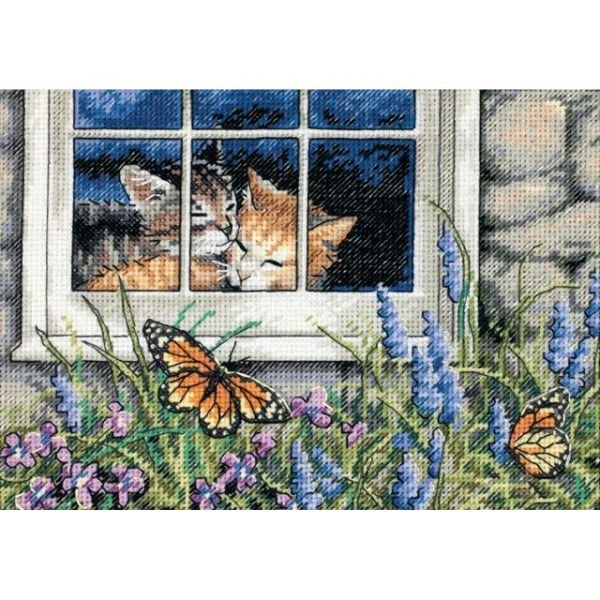 Dimensions Gold Petite Feline Love Counted Cross Stitch Kit