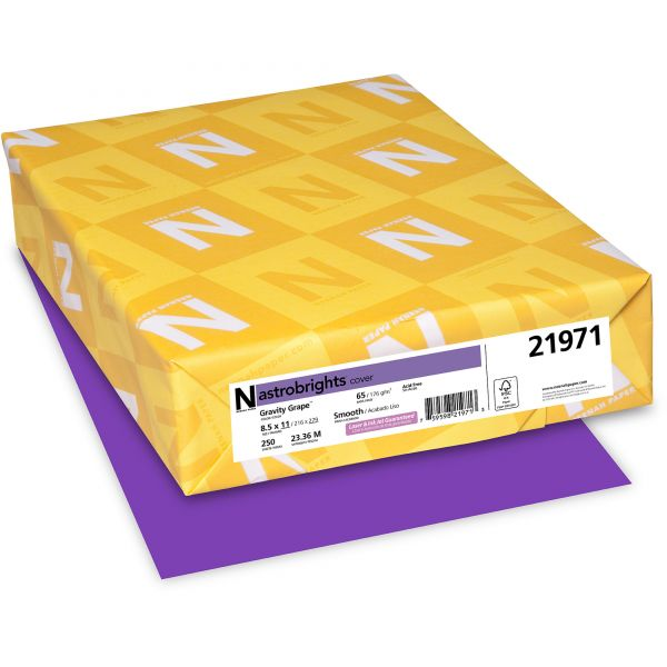 Neenah Paper Astrobrights Gravity Grape Colored Card Stock