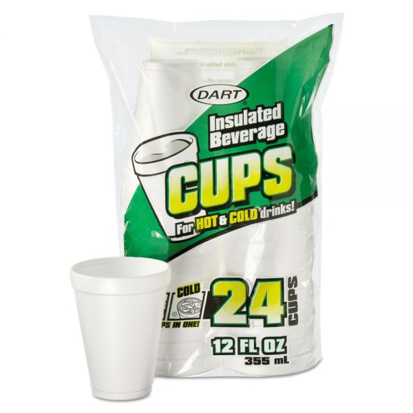 Dart Small 12 oz Foam Cups