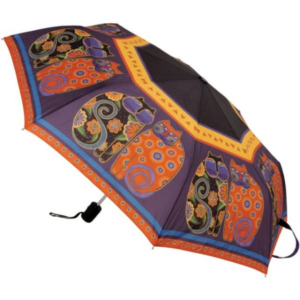 "Laurel Burch Compact Umbrella 42"" Canopy Auto Open/Close"