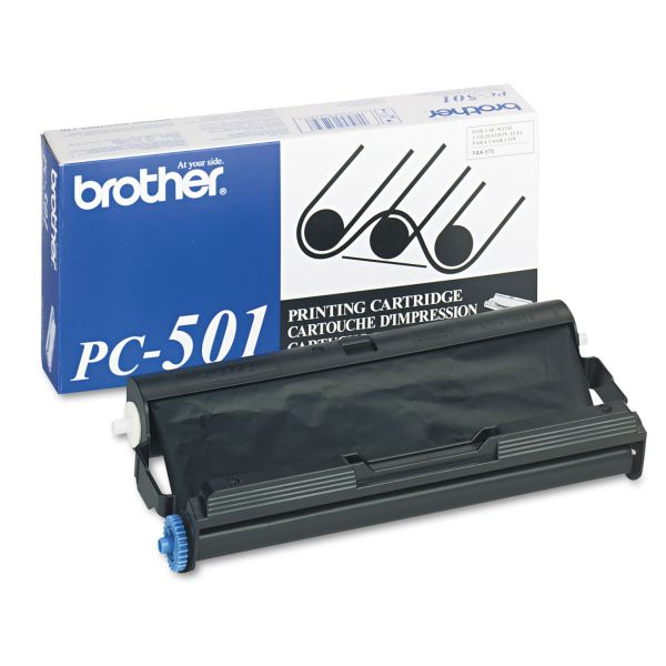 Brother PC501 Thermal Transfer Print Cartridge, Black