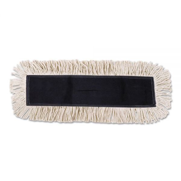 UNISAN Disposable Dust Mop Head w/Sewn Center Fringe