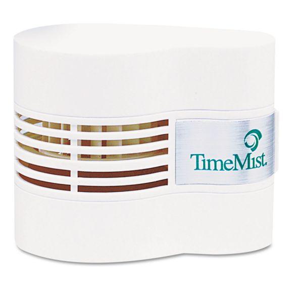 TimeMist Continuous Fan Fragrance Dispenser, 4 1/2 x 3 x 3 3/4, White