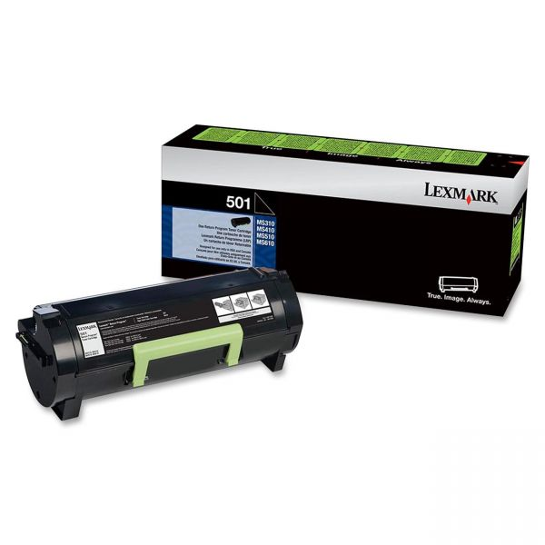 Lexmark 501 Black Return Program Toner Cartridge (50F1000)