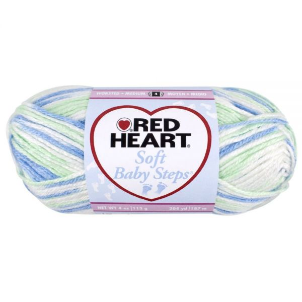 Red Heart Soft Baby Steps Yarn - Puppy Print