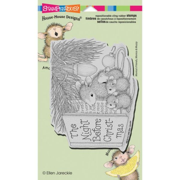 "Stampendous House Mouse Cling Rubber Stamp 4.5""X7.75"" Sheet"