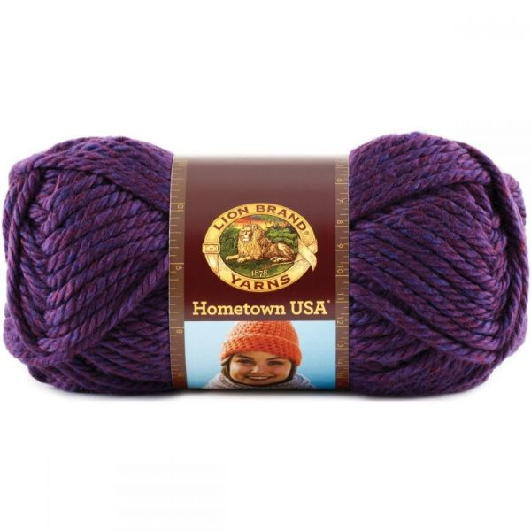 Lion Brand Hometown USA Yarn - Portland Wine