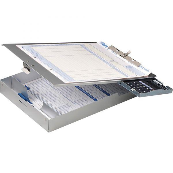 OIC Aluminum Top-Loading Clipboard w/Calc.
