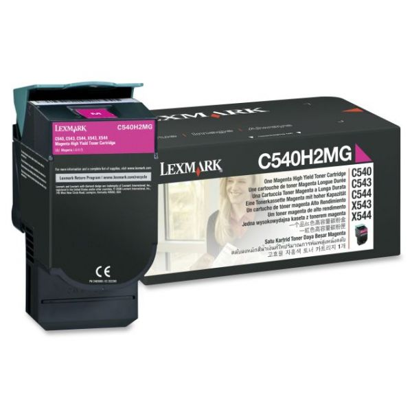 Lexmark C540H2MG High Capacity Magenta Toner Cartridge