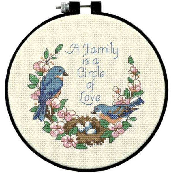 Dimensions Learn-A-Craft Family Love Counted Cross Stitch Kit