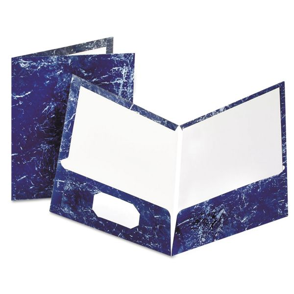Oxford Marble Laminated Two Pocket Folders