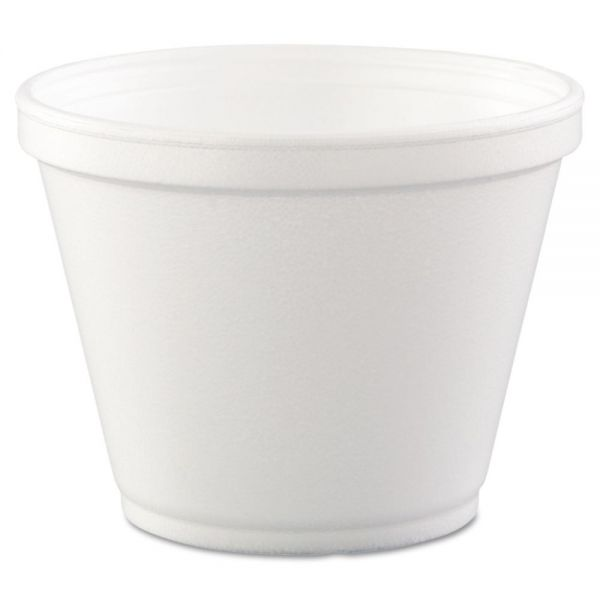 Dart Food Containers, Foam,12oz, White, 25/Bag, 20 Bags/Carton
