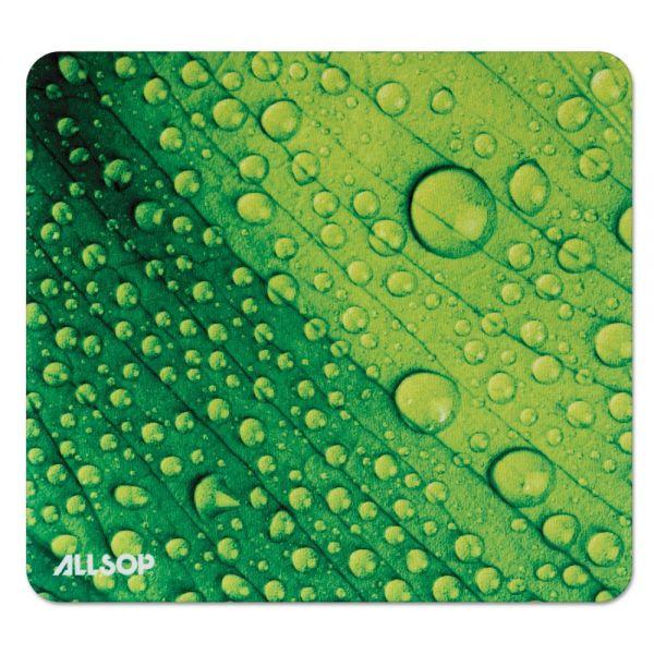 Allsop Naturesmart Mouse Pad, Leaf Raindrop, 8 1/2 x 8 x 1/10