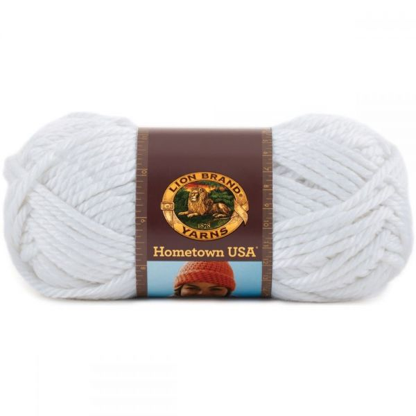 Lion Brand Hometown USA Yarn - New York White