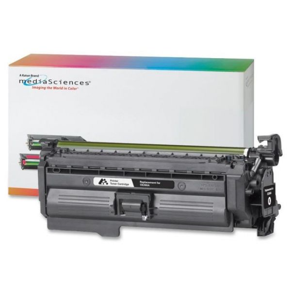Media Sciences Remanufactured HP CE261A Black Toner Cartridge