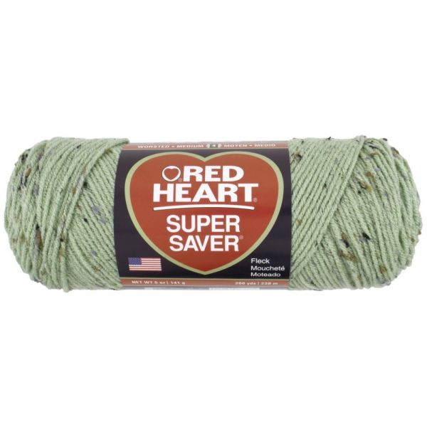 Red Heart Super Saver Yarn - Frosty Green Fleck