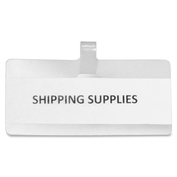 Panter Company Wire Rack Shelf Tag,  3-1/2 x 1-1/2, White, 10/Pack