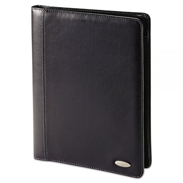 Samsonite Bi-Fold Padfolio, 8 1/2 x 11, Black