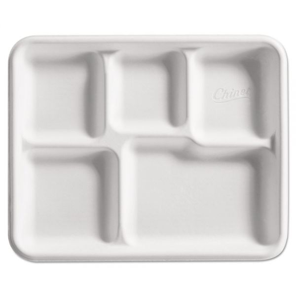 Chinet Heavy-Weight Fiber Café Compartment Trays